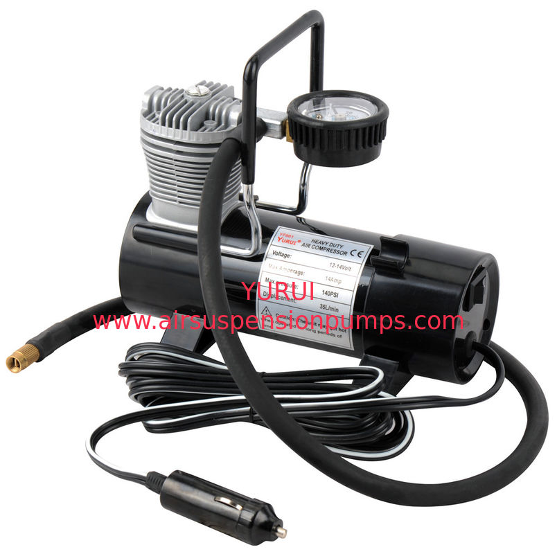 Cars Single Cylinder Air Compressor Pump With Guage And Bag Strong Inflation