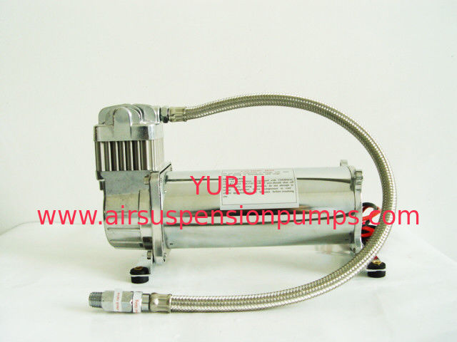12V And 24vdc Air Compressor Lead Hose Pewter Stainless , 150 Psi Air Compressor