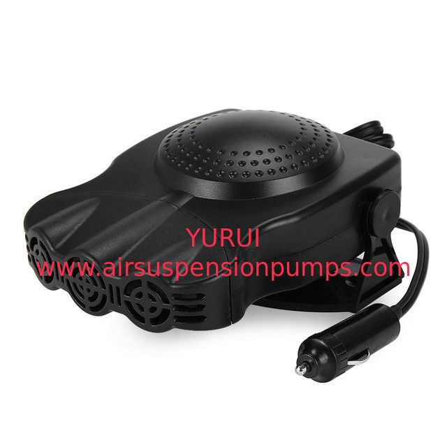 Two Switch Portable Fan Heater 150w , Black Plastic Plug In Car Heater