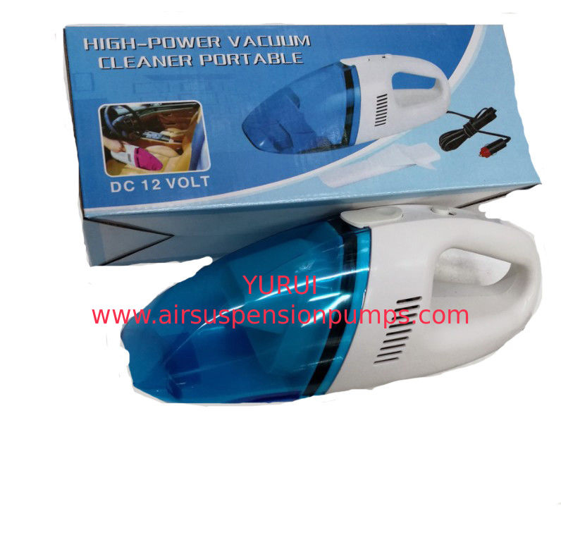 Wet / Dry Handheld Car Vacuum Cleaner Plastic Material In Blue White Color