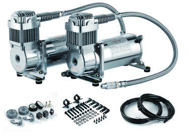 12Vは二重タンク空気圧縮機200のPSIの鋼鉄空気乗車の懸濁液の圧縮機二倍になります